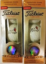 6 RARE TITLEIST Pro V1 392 Limited Edition MCI Heritage Golf Balls 3 #3 & 3 #4