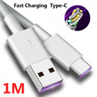 Fast Charger Cable For Samsung Huawei Type C USB-C Data Charging Cable 1M