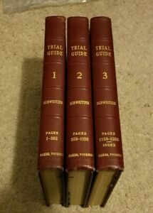 1948 TRIAL GUIDE Sydney Schweitzer New York Bar Tactics Strategy Proof 3 Volumes