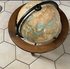 Covetable Rare Crams Imperial World Globe On Wooden Base