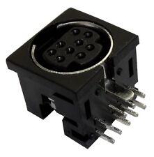 5x Conector enchufe mini DIN hembra 9 pines THT