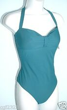 CALVIN KLEIN Swimsuit Sz 12 Wrapped Bust Halter One-Piece Maillot NWT $116