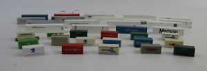 Vtg Lot of 35 N SCALE Shipping / Freight Containers Mixed - 20', 40' & 48' GUC