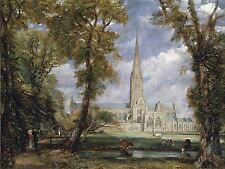 JOHN CONSTABLE SALISBURY CATHEDRAL BISHOPS GARDEN ART PAINTING PRINT 1628OMA