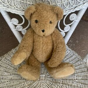 Vermont Teddy Bear Company Beige Brown Bear Jointed Plush 1992 Vintage