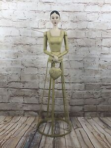 Madam Abigail statue from Wyfair weathered wooden on metal 24'' tall shabby chic