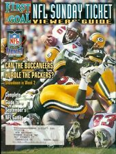 1998 First & Goal NFL Sunday Ticket Viewers' Guide Magazine: Buccaneers Packers