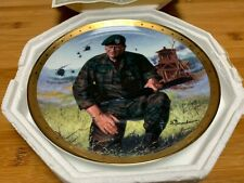 John Wayne Special Forces Green Berets Plate Franklin mint with Certificate Auth