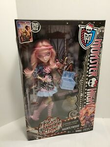 Monster High Doll Viperine Gorgon Frights Camera Action Hauntlywood NIB