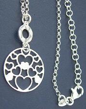 Trendige Silberkette 925 mit funkelndem Anhänger massive Kette Silber Halskette