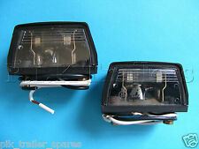 2 x Number Plate Lamps Pre-wired for Trailers & Horsebox