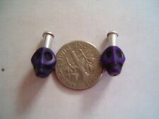 Skull brake cable ends crimps cool BMX, Road,Fixie, Single Speed   (purple)