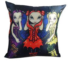 Jasmine Becket-Griffith See Hear Speak No Evil Fairy Home Decorative Pillow
