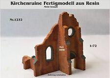 Für Diorama Nr,1232 Kirchenruine Fertigmodell 1:72 aus Resin