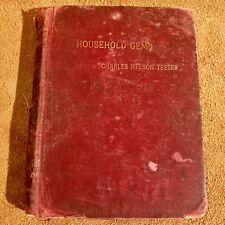 Antique 1896 HOUSEHOLD GEMS A Metrical Work By Charles Nelson Teeter Poetry