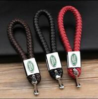 KEYCHAIN KEY CHAIN RING BLACK LEATHER FOR Land Rover Range Rover Key Holder GIFT