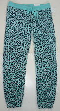 Womens AEROPOSTALE LLD Leopard Cinch Fleece PJ Dorm Sweat Pants  NWT #7186