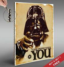 STAR WARS Your Empire Needs You A4 POSTER * Decor Gift Idea * Cardboard Mounted