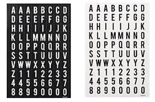 320 BUCHSTABEN STICKER 4 Bogen Aufkleber HOBBYFUN Alphabet + Zahlen kp
