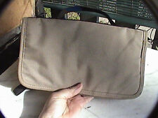 "ll bean passport style beige wallet clutch with handle 9-1/2"" x 5-1/2"""