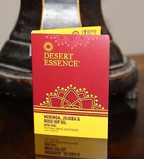 Desert Essence Organic Moringa Jojoba Rose Hip Oil 1.2 ml Travel Trial Size