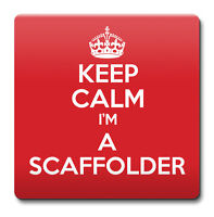 KEEP CALM I'm a Scaffolder Coaster - Coffee Cup Gift Idea present