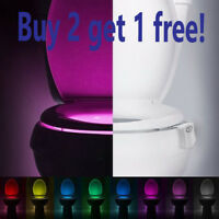 Bowl Bathroom Toilet Night LED 8 Color Lamp Sensor Lights Activated Motion Light