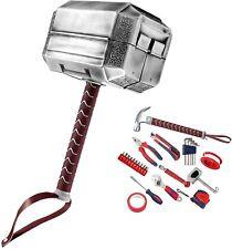 More details for mighty thor hammer tool set 29-piece tool kit avengers mjolnir general household