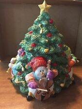 "Fitz and Floyd ""Snowman Jamboree"" Cookie Jar New in original packaging"