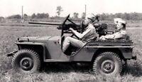 WW2 WWII Photo US Army Jeep with 37mm Anti-Tank Gun Mounted World War Two / 3166