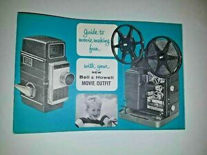 Vtg Guide to Movie Making Fun BELL & HOWELL MOVIE OUTFIT CAMERA/PROJECTOR manual