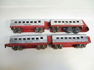 O Gauge Lionel 1700E LL Jr Streamliner Chrome Red Prewar X7540