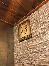 ANTIQUE PLAQUE 1950's LOFT VINTAGE ART BRUTAL METAL HOME PUB BAR CAFE WALL DECOR