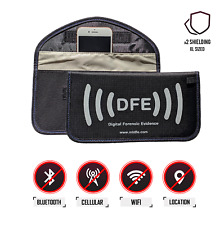 Premium +Size RFID, Cellular, WiFi, NFC, Bluetooth Blocking Faraday Case for Cel