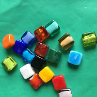 Wholesale 50 Pcs 12mm square Lampwork Top quality glass beads for jewelry DIY