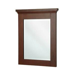 Home Decorators Collection 32 in x 29 in Bathroom bath room vanity Mirror
