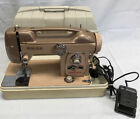 Vintage White Sewing Machine Model 764  Rose Pink With Carrying Case