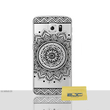 Mandala Case/Housse Samsung Galaxy S6 (G920) Protecteur d'écran, Gel/Solaire Noir