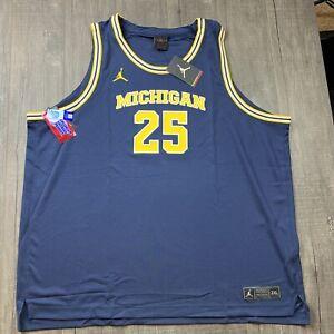 🆕 Mens Jordan Nike Michigan Wolverines Basketball Jersey Size 3XL RARE $75