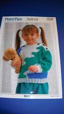 Peter Pan Child's Sweater Knitting Pattern 636