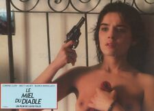 SEXY CORINNE CLERY LUCIO FULCI IL MIELE DEL DIAVOLO 1986  VINTAGE LOBBY CARD #5