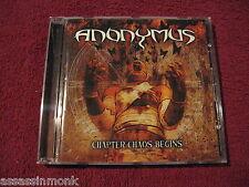 ANONYMUS Chapter Chaos Begins CD Quebec thrash DBC Voivod Kataklysm Xentrix