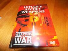 WEAPONS OF WAR HITLER'S SECRET WEAPONS Weapon V2 V1 Rockets Jets Jet DVD NEW