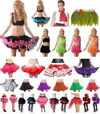 Ladies 4,5 Layers TuTu Skirt Petticoat with Ribbon Burlesque Ruffle RARA Skirt