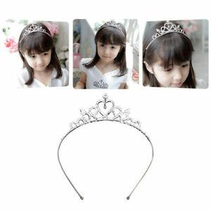 Kids Girl Child Wedding Prom Crystal Rhinestones Tiara Princess Crown Headbanduk