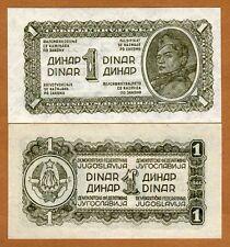 Yugoslavia, 1 Dinar, 1944, Pick 48a, WWII, UNC