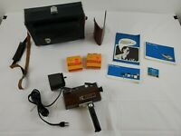 "Vintage Bell & Howell ""FILMOSOUND 8"" Autoload 8mm Movie Camera w/Case and Film"