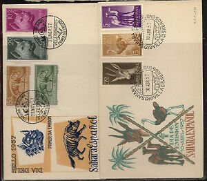 Spanish  Sahara   2  cachet  covers   1957        KL1101