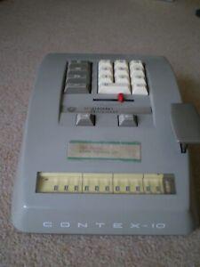 Vintage 1950/60s Carlsen CONTEX-10 Mechanical Calculator