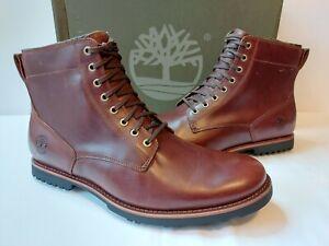 Timberland Kendrick Side Zip Waterproof Boots Mens 7 M Brown Full Grain Leather